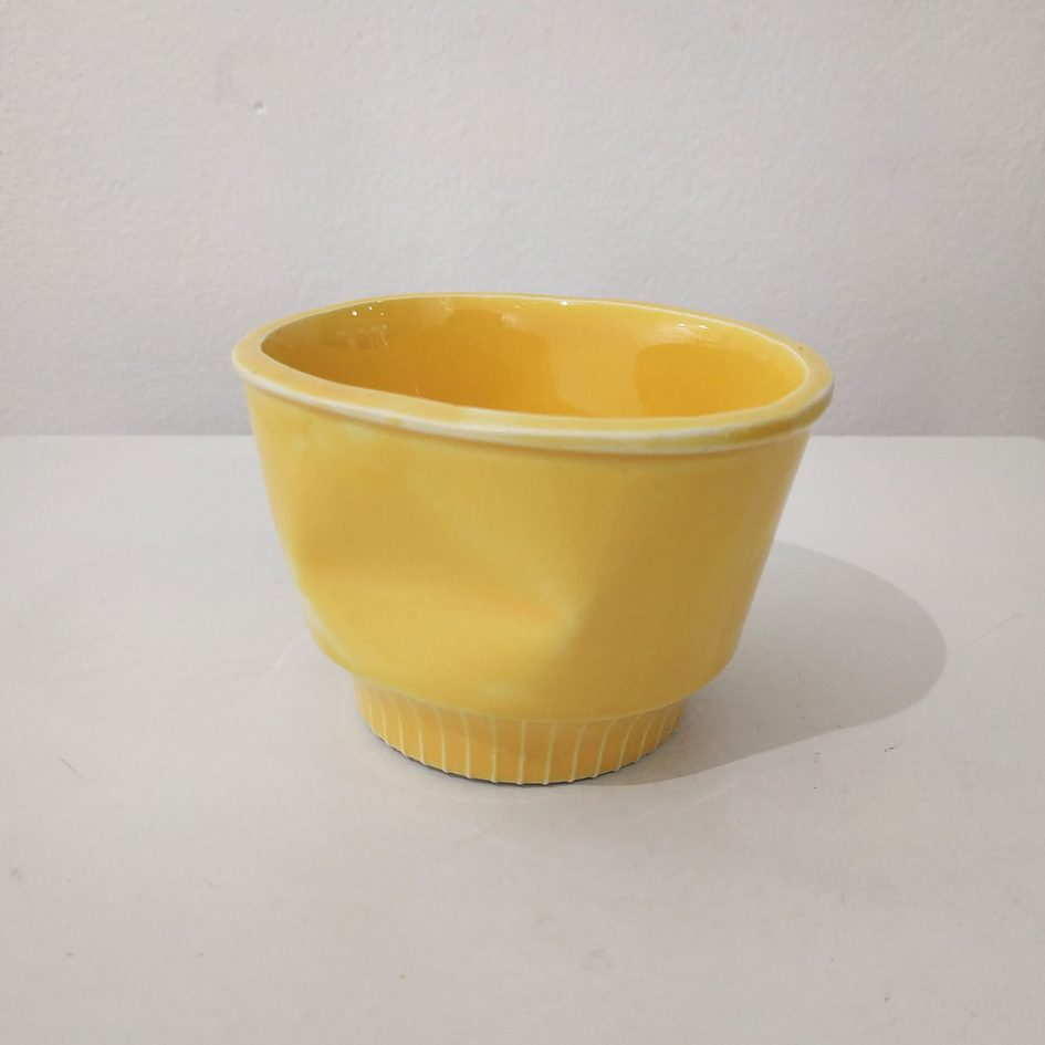 cup ceramic yellow