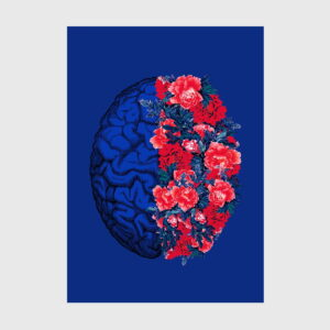 brain flowers blue