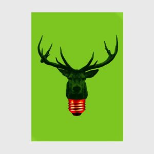 reindeer bulb light green