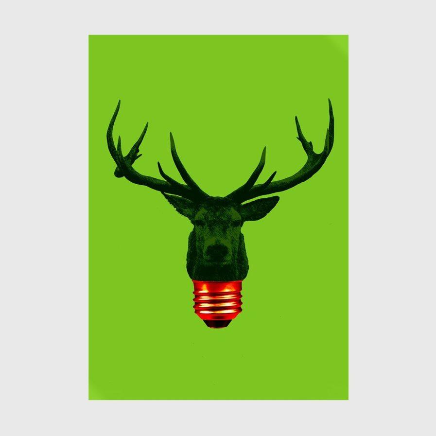reindeer bulb light green
