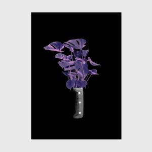 print flowers knife