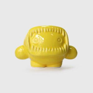 ceramic yellow eskimo