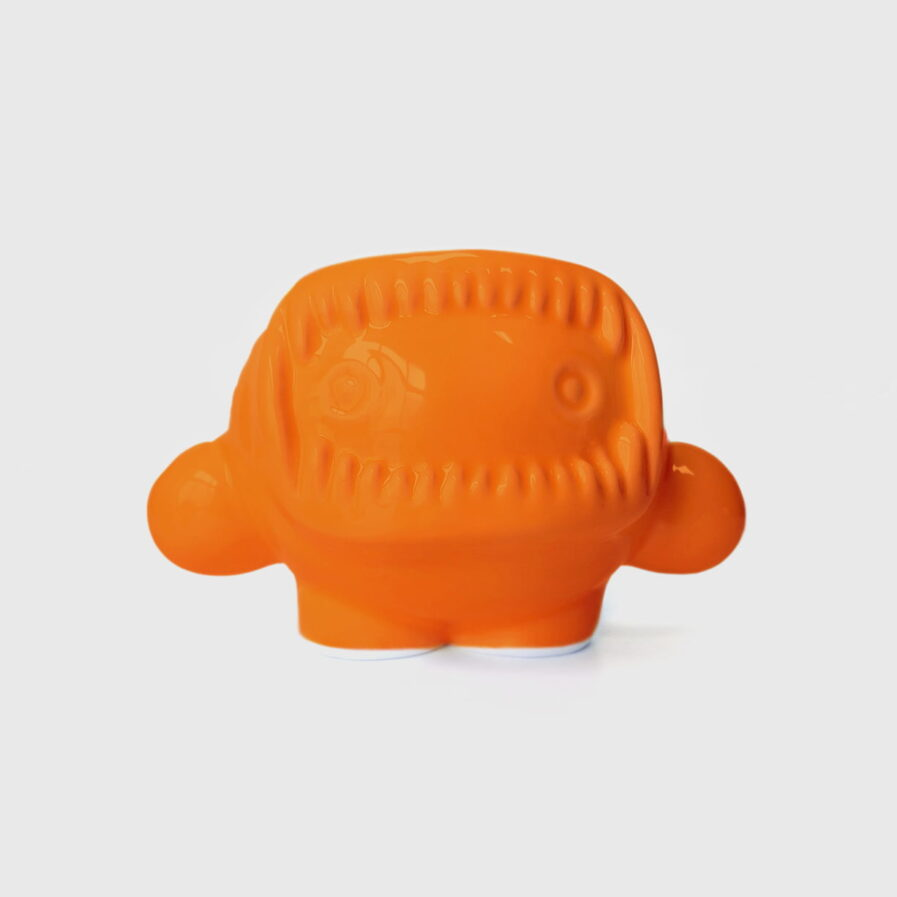 ceramic orange eskimo