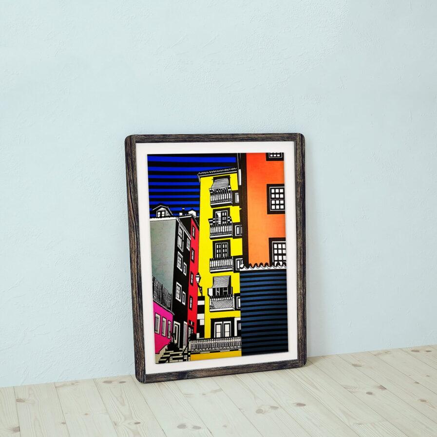 frame with building facade lisbon