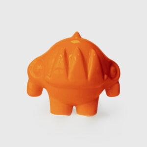 ceramic orange rhinoceros
