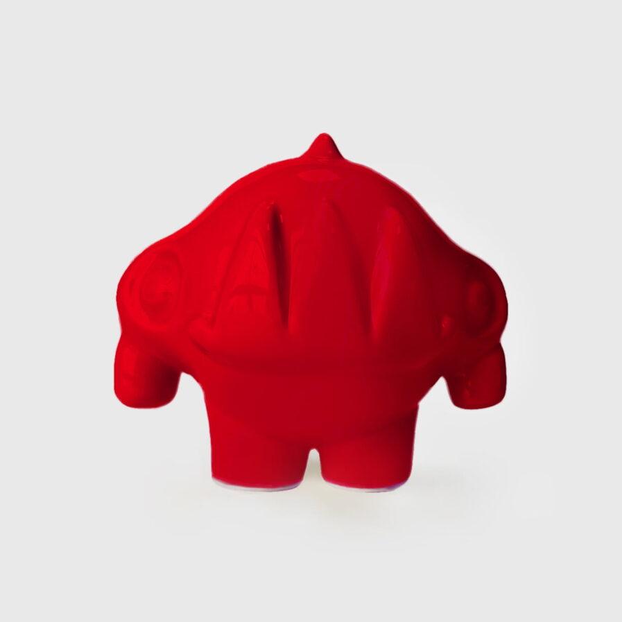ceramic red rhinoceros