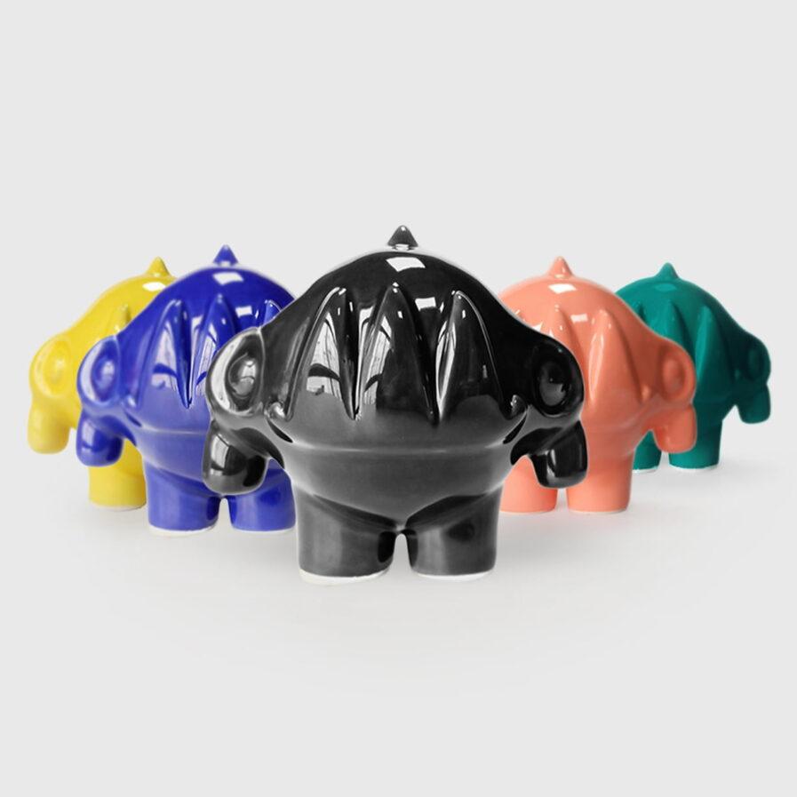 ceramic colors rhinoceros