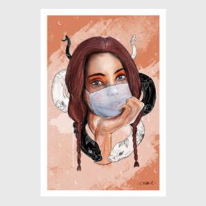 mask girl snake
