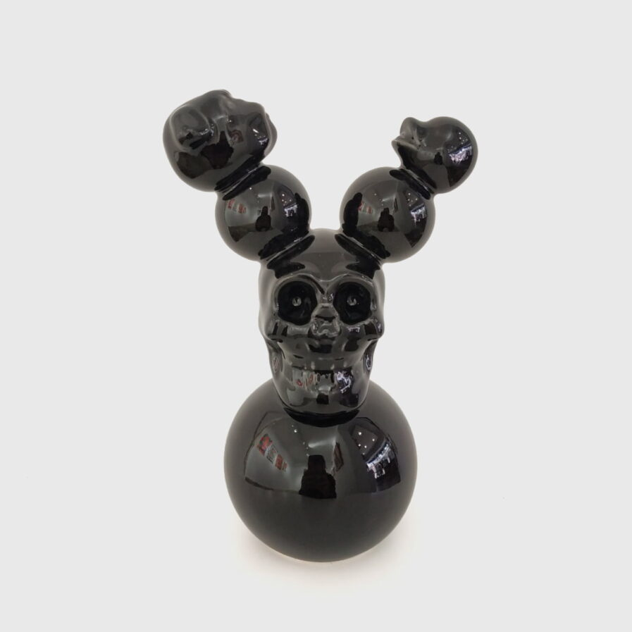 black skull mouse dog duck