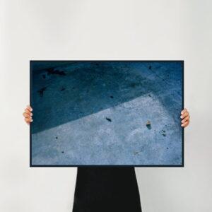 holding a artwork