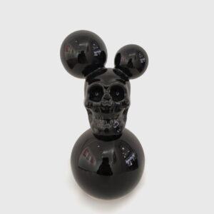 mouse skull ceramic