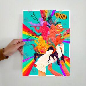 holding print glove