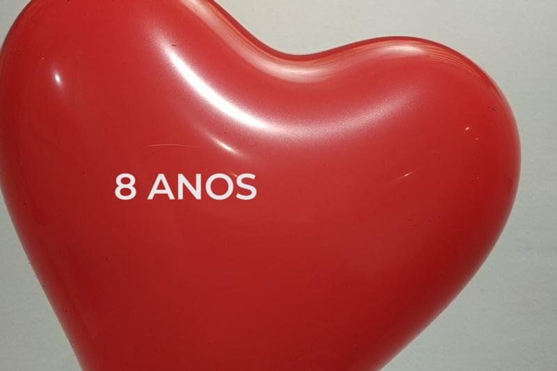 heart ballon 8 years