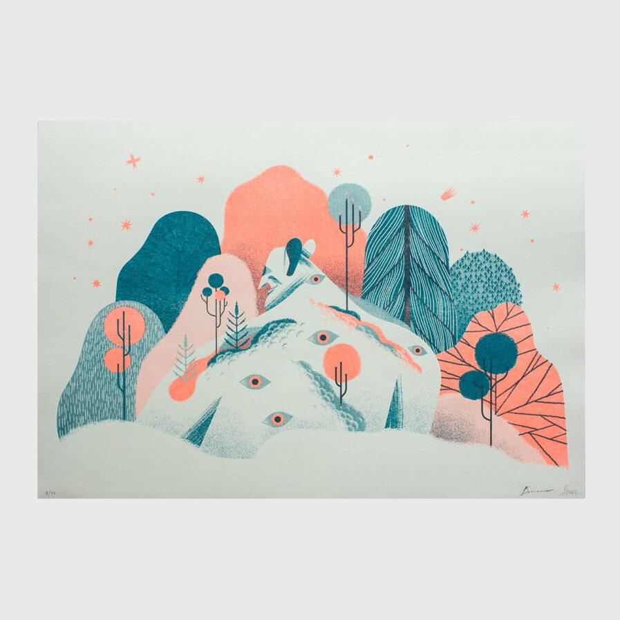 monster in the florest illustration