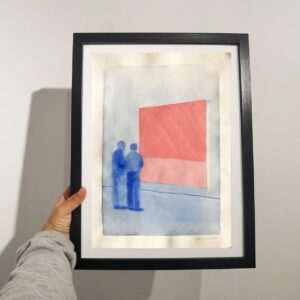 watercolor in a frame