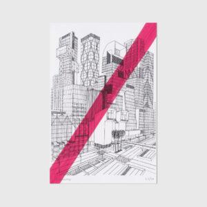 Architect drawing print