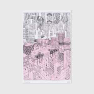 Architect drawing print