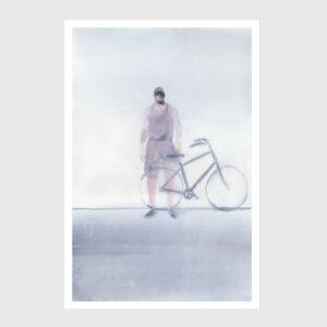 bike print watercolor