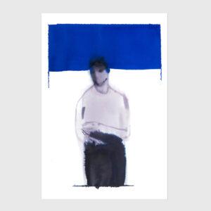 man print watercolor