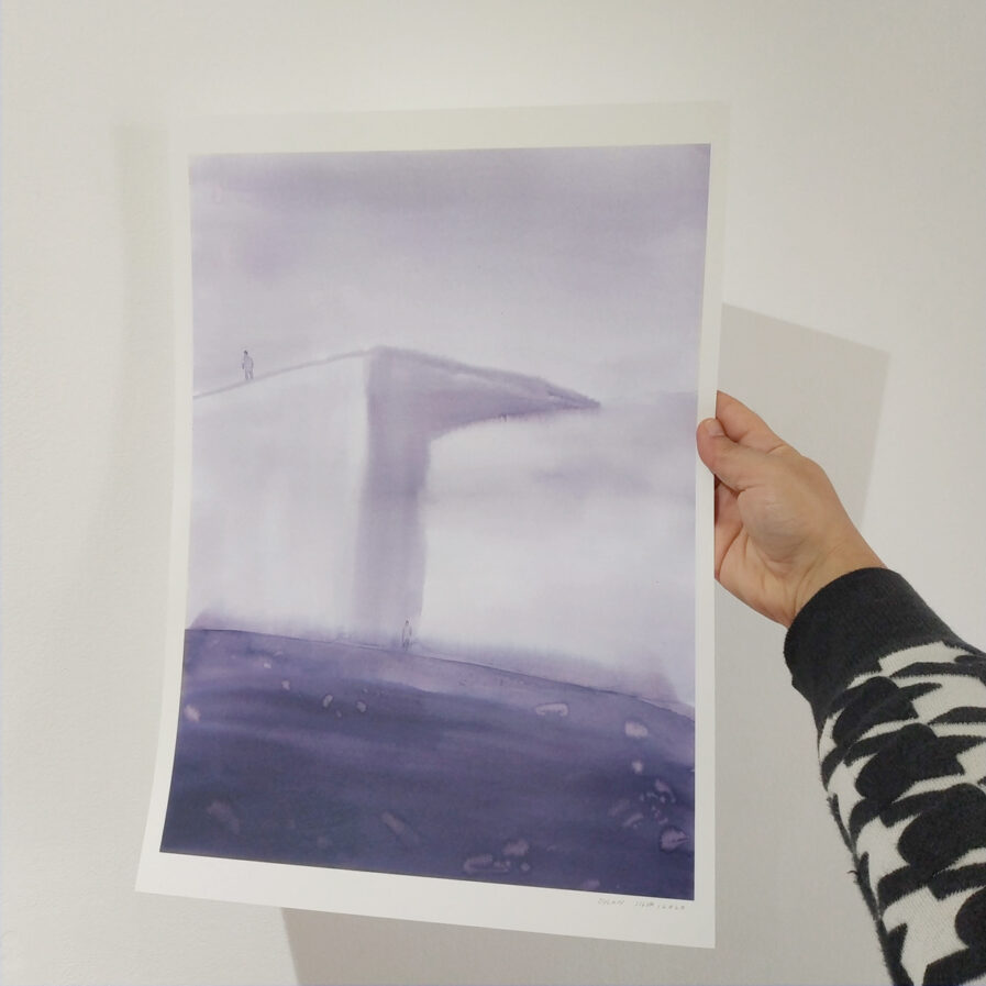 holding print watercolor
