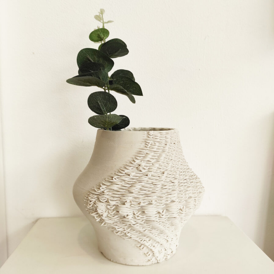 white tangled jar