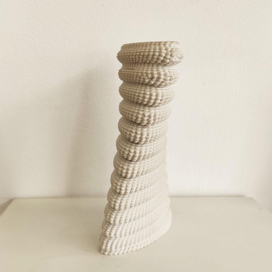 3d print twisted white jar