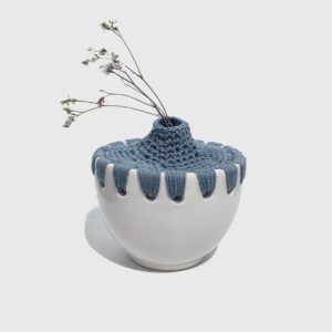 ceramic Bowl with crochet